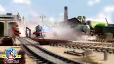Sodor Tidmouth shed railway turntable splendid James train express Gordon and Henry the big engine