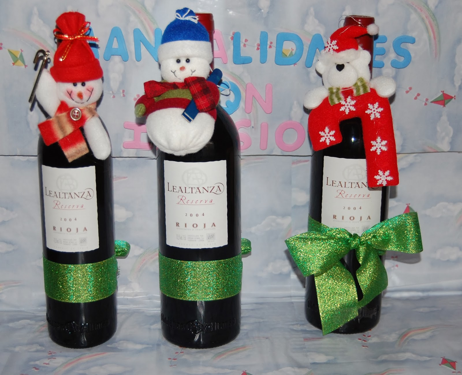 Manualidades con botellas de vino 1000 images about - Botellas de vino decoradas para navidad ...