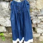 http://www.patypeando.com/2015/07/customizando-un-vestido-vaquero.html