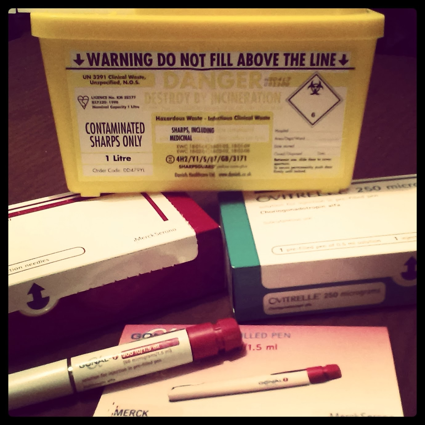 IVF Drugs and Sharps Box