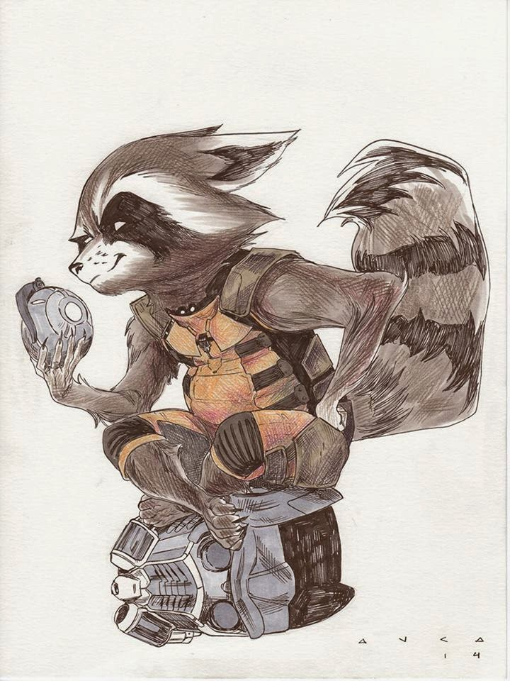 fashion and action rocket raccoon guardians of the