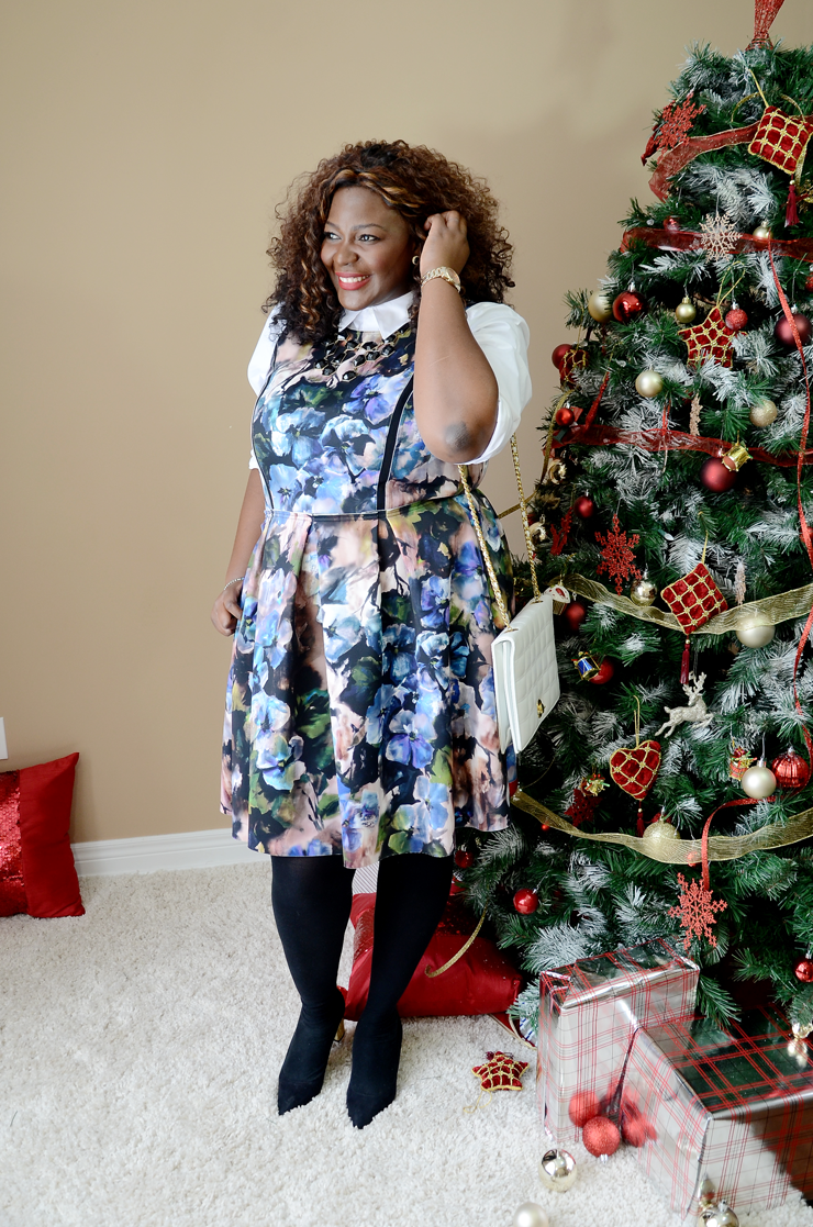 #plussizefashion for women #renttherunway #mycurvesandcurls #fwinterfloral