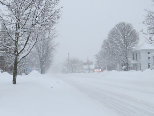 Scottville in snow