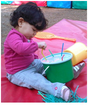 straw activity for toddler