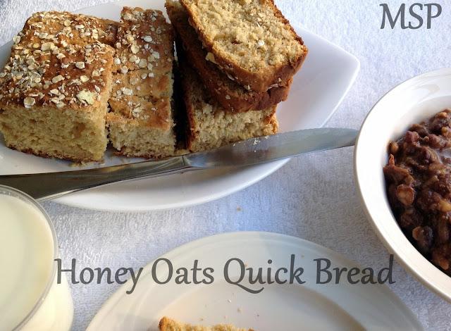 THE MAGIC SAUCEPAN: Honey Oats Quick Bread