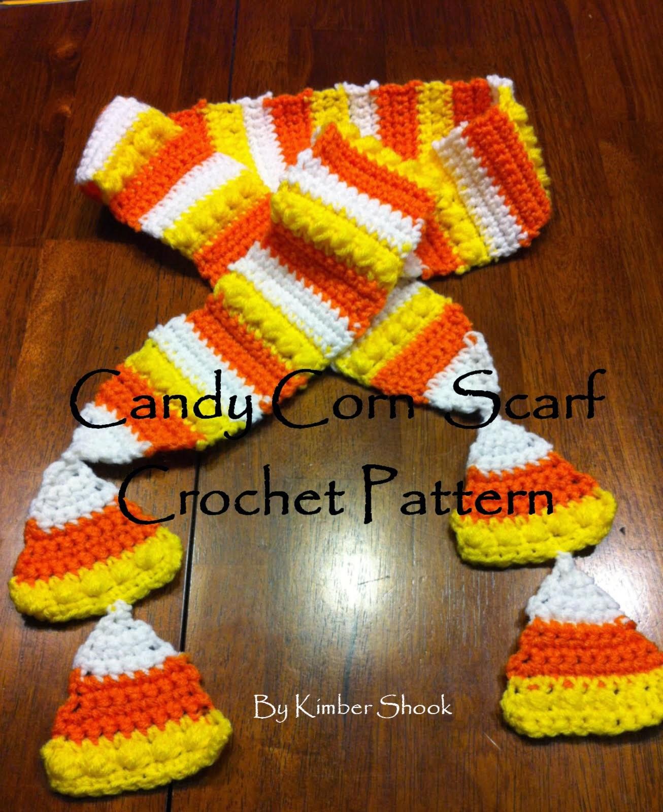 Candy Corn Crochet Scarf Pattern