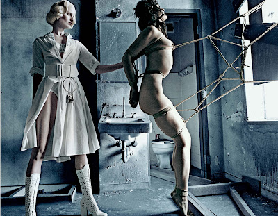 Karolina Kurkova & Crystal Renn in 'Institute White' by Steven Klein for Interview Magazine-8