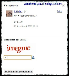UNETE - NO A LOS CAPTCHAS!