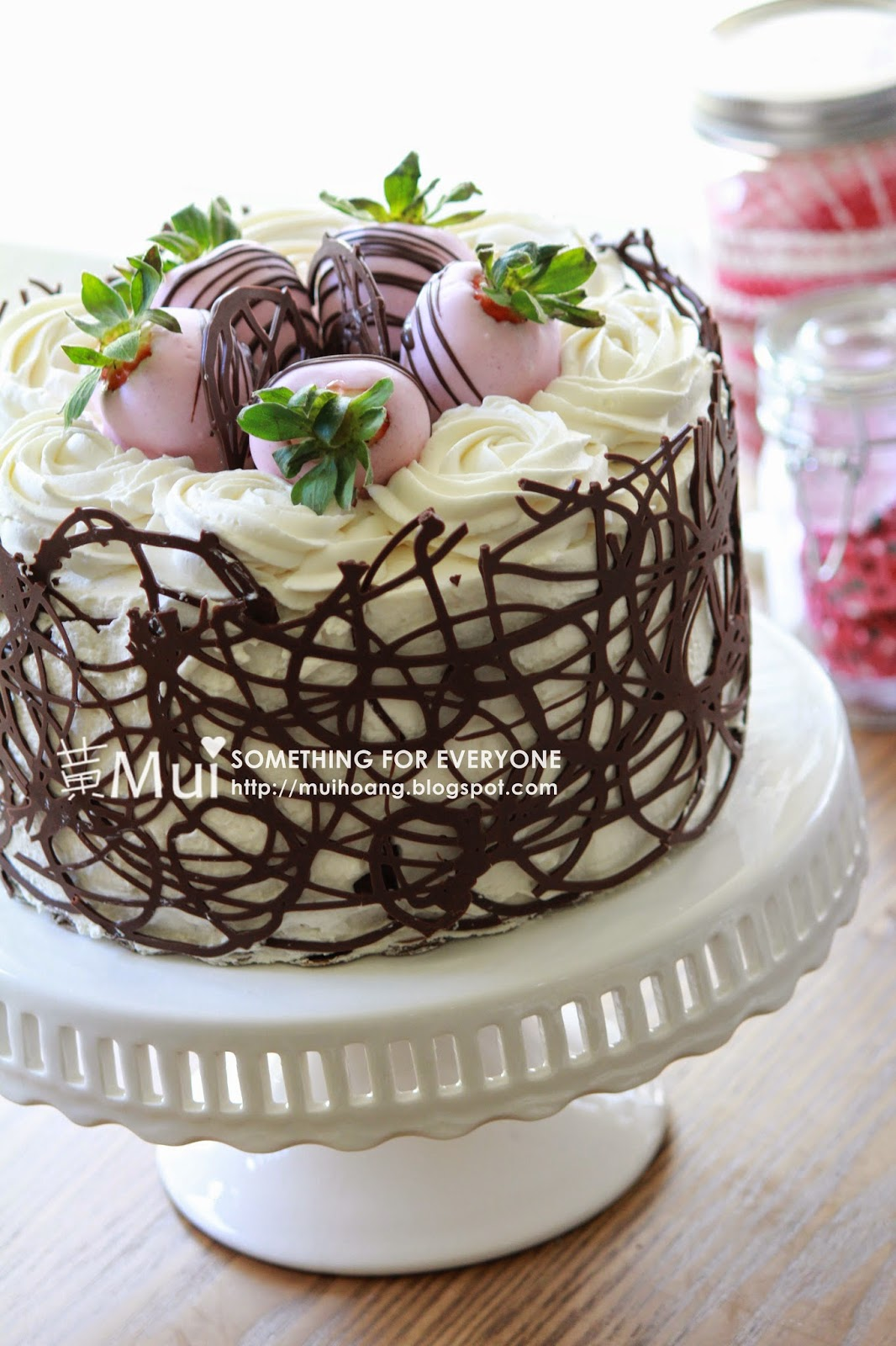 Something For Everyone Chocolate Cage Strawberry Cake
