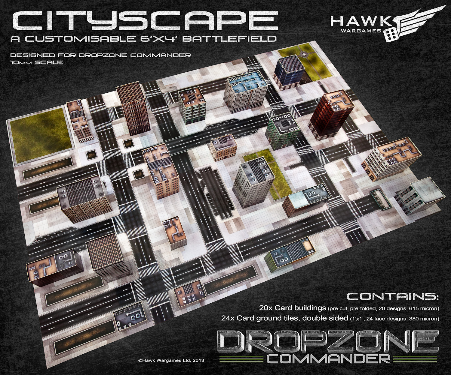 $45 Dropzone Commander Cityscape- Table in a Box | Wargaming Hub