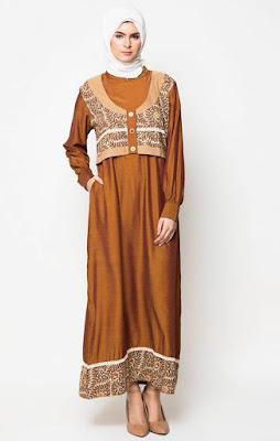 Contoh Desain Baju Gamis Muslim Wanita Favorit Remaja