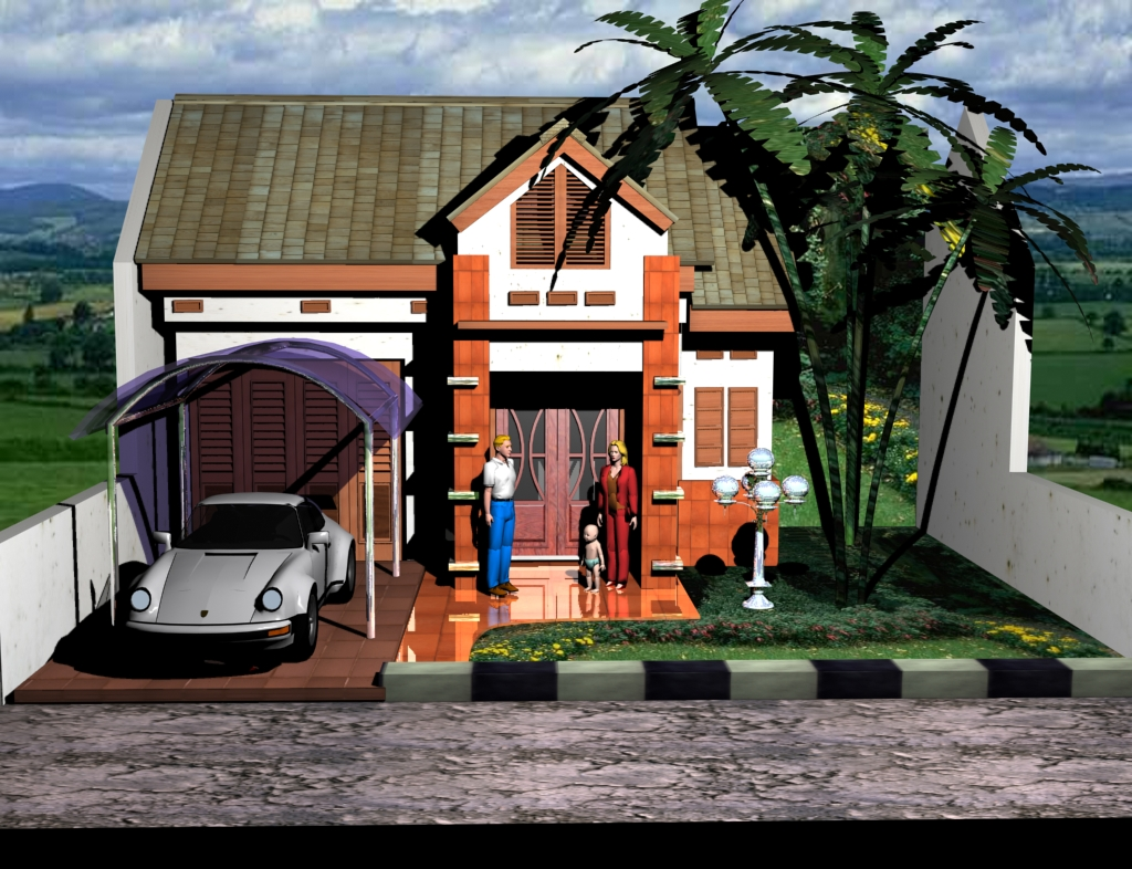 Drawingtechnic my home og the dream for My dream house drawing