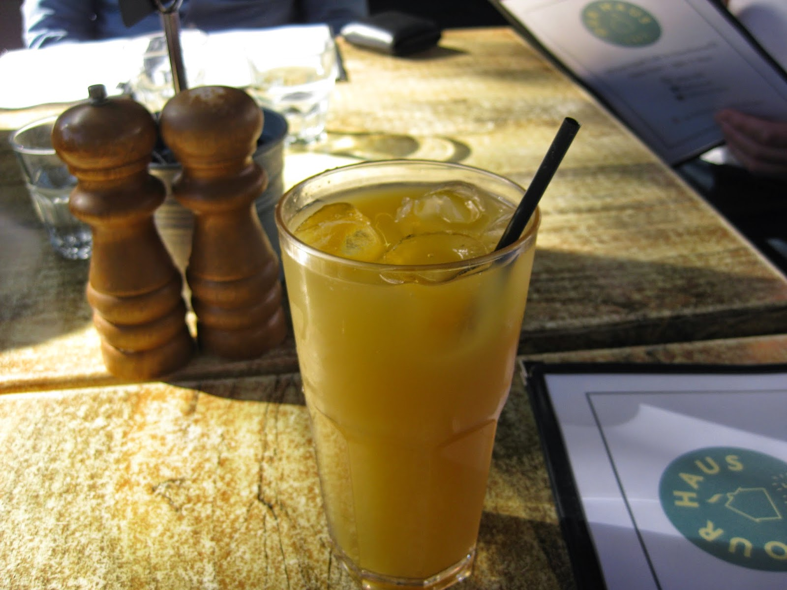 Cassie Cakes Review of Our Haus - pineapple juice