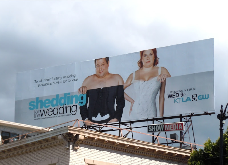 Shedding for the Wedding TV billboard