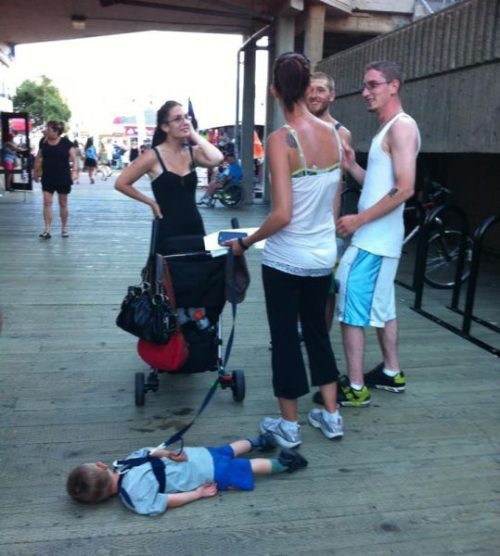 hilarious kids sleeping in public