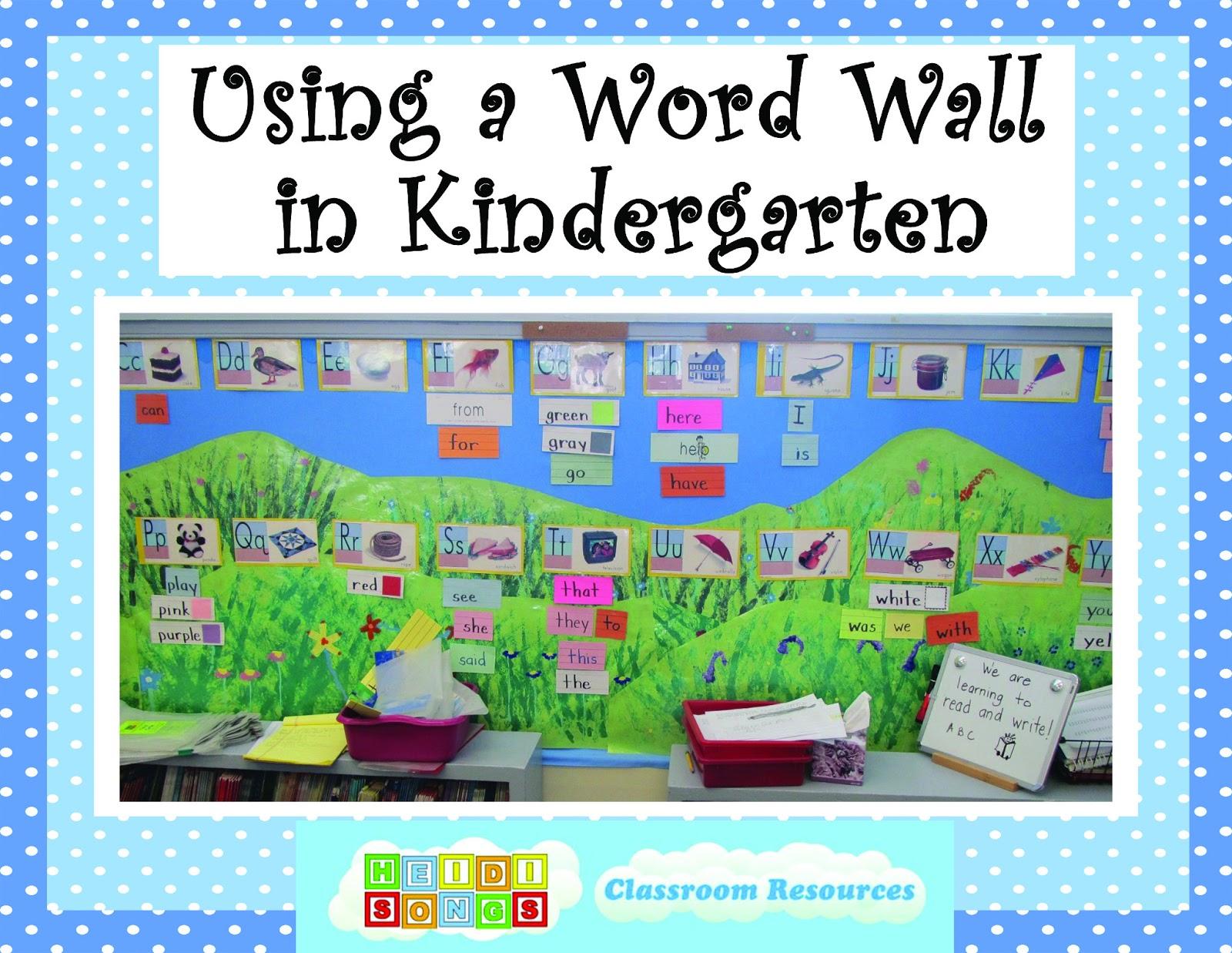Word Wall Ideas For Preschool : Using a word wall in kindergarten heidi songs