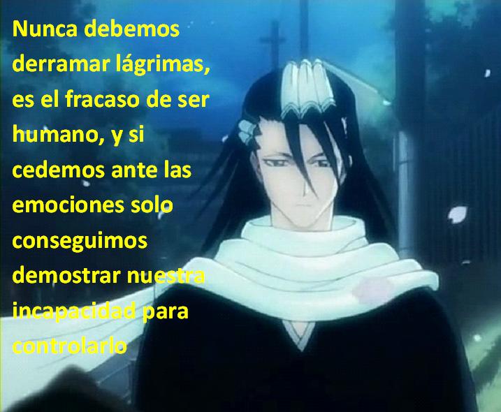 Frases con fotos del anime. Byakuya