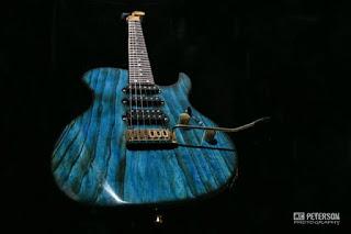 John McGuire Guitars HSS in trans blue