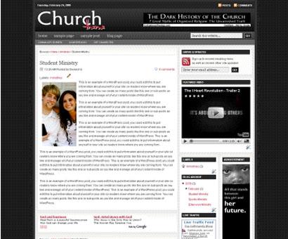 revolution church blogger templates V1