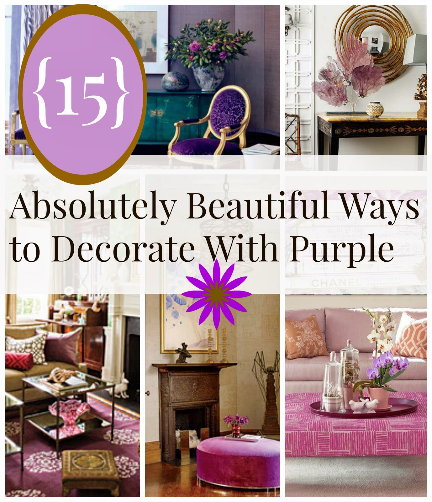 Pinterest Home Decor 2014: {15} Beautiful Ways To Decorate Your Home With Purple