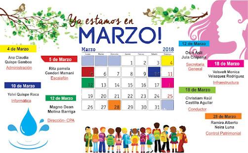 CUMPLEAÑOS MES DE FEBRERO 2018