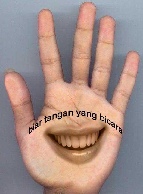 gambar unik tangan bisa ngomong gambar super gaul unik 2014