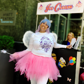 "This ""Fairy Godmother"" helps Scoops of Hope offer trips to Give Kids The World Village."