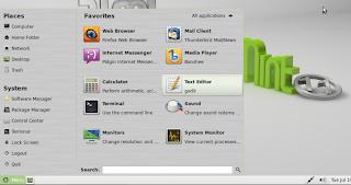 Linux Mint 11 menü