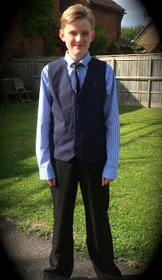 teenage boy dressed for prom