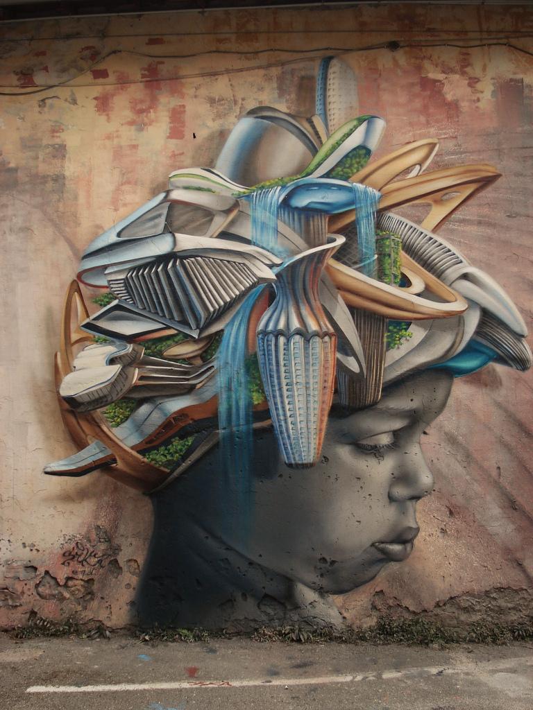 Joe browns amazing new street art part 1 for Interesting wall art