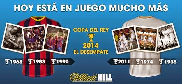 william hill porra facebook 50 euros final copa rey barcelona vs real madrid