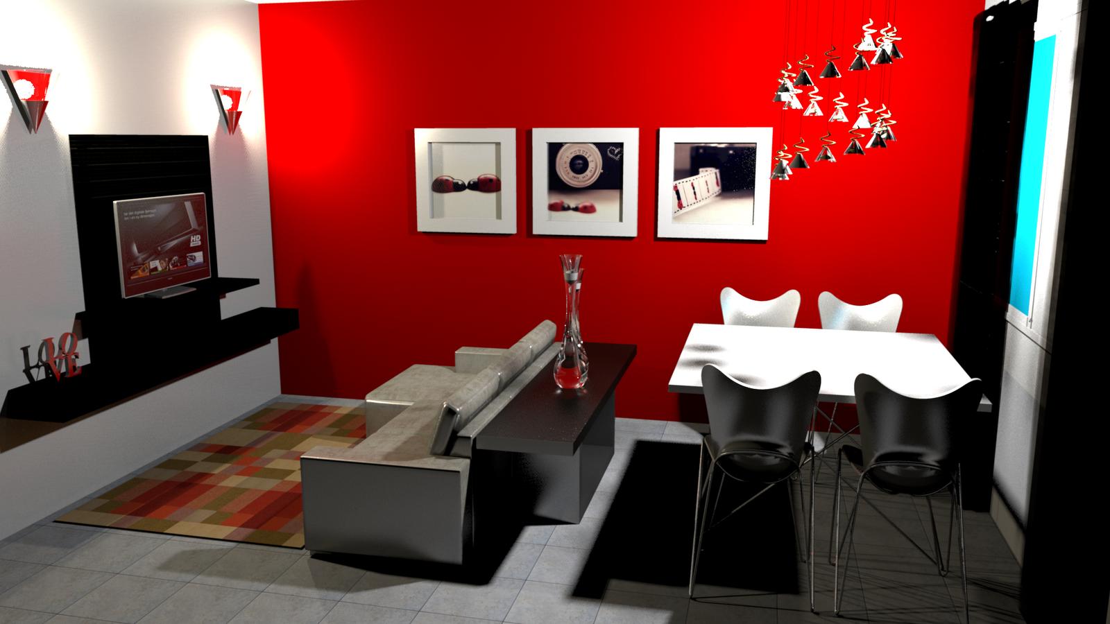 Decoracao De Sala Vermelho ~ decoracao de sala vermelho e pretoAteliê Casinha de Boneca Projetos