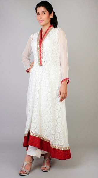 Latest Design of White Dress for Formal