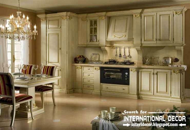 classic English style in the interior, English kitchen furniture and decor
