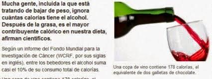¿Sabe cuántas calorías tiene su copa de vino?