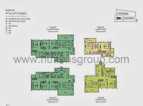 2/3 Bedrooms Floor Plans