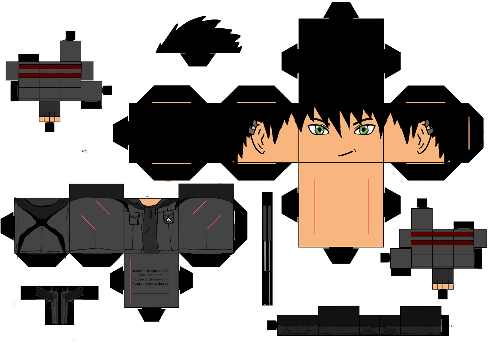 cut out character template - xeroz ba game art blog cut out character