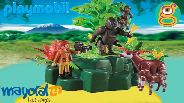 Mayoral Playmobil Wild life Animales gorilas Playmobil Gorillas juguetes playmobil