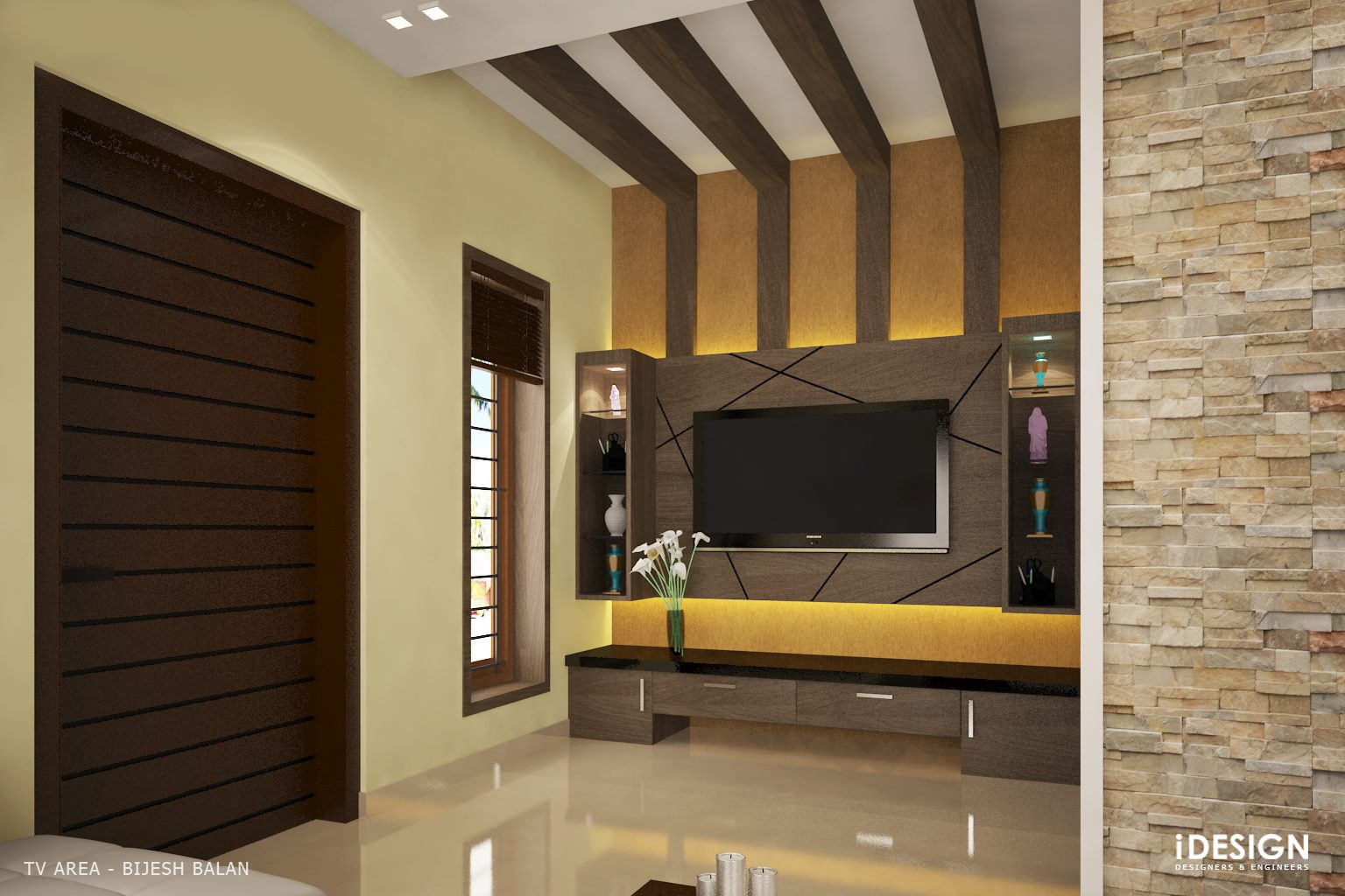 Idesign Calicut Tv Area Design