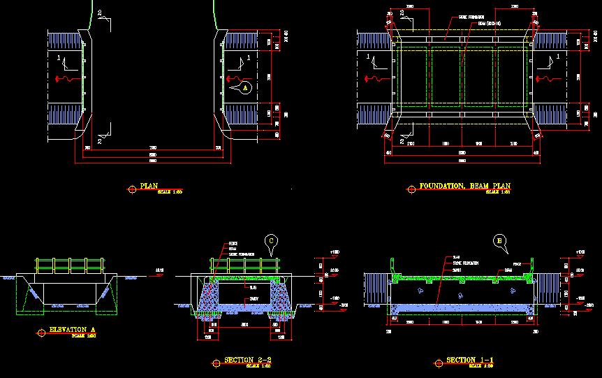 Gambar kerja jembatan lengkap