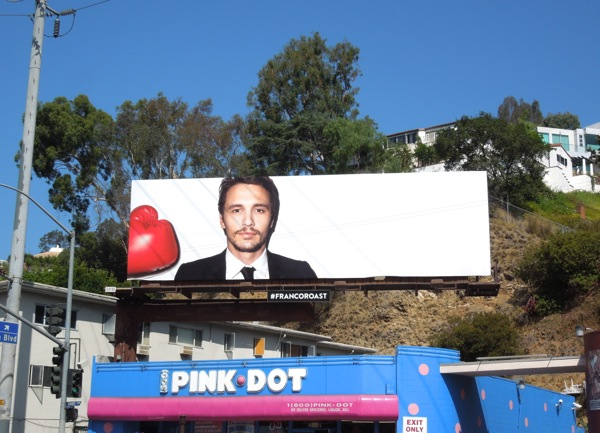 Comedy Central James Franco Roast billboard Day 2