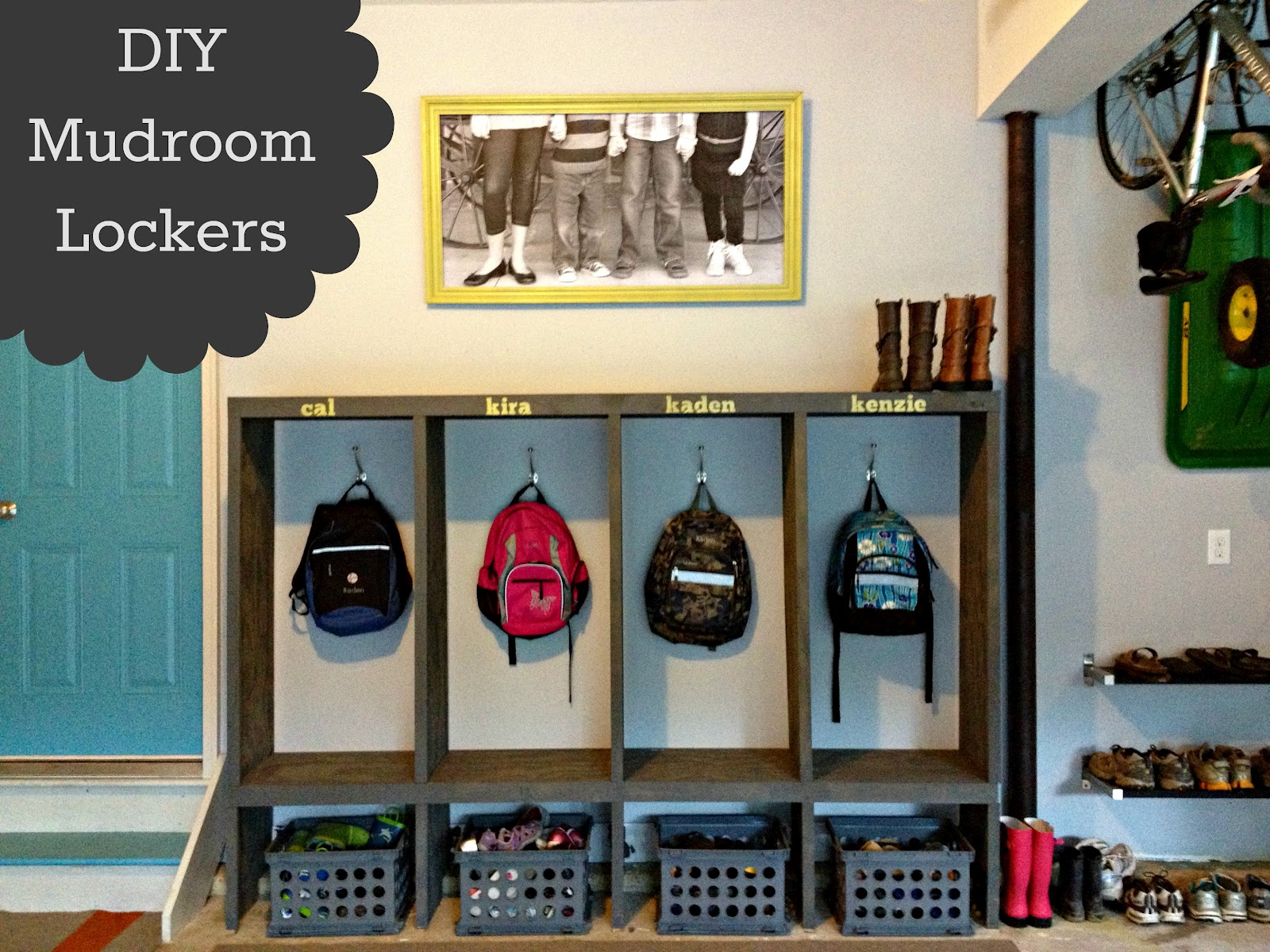 DIY Mudroom Lockers- Garage Mudroom Makeover