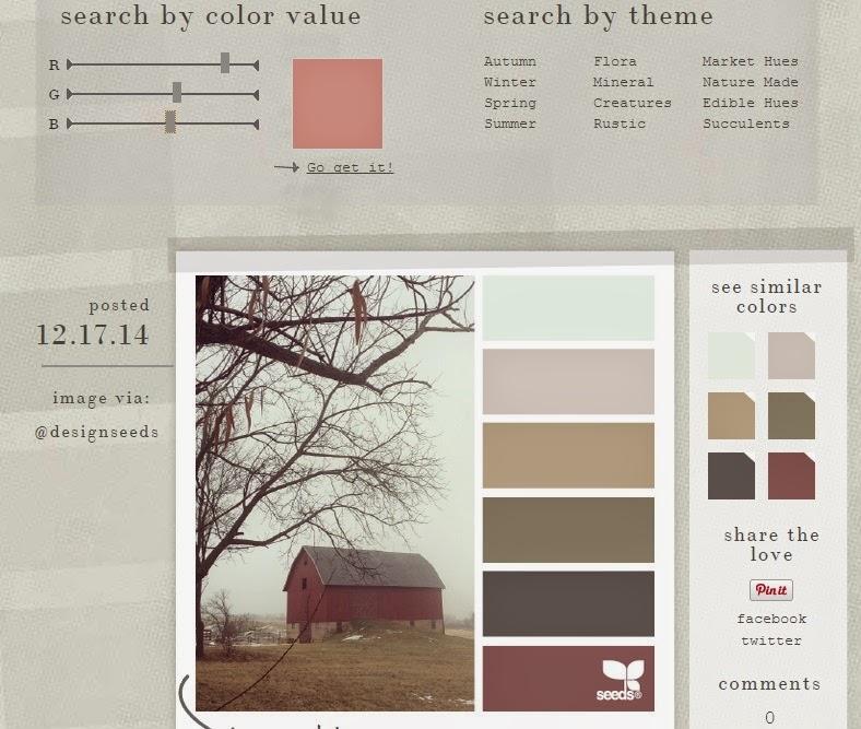 Aspecto de designs seed, aqui eliges la gama de colores