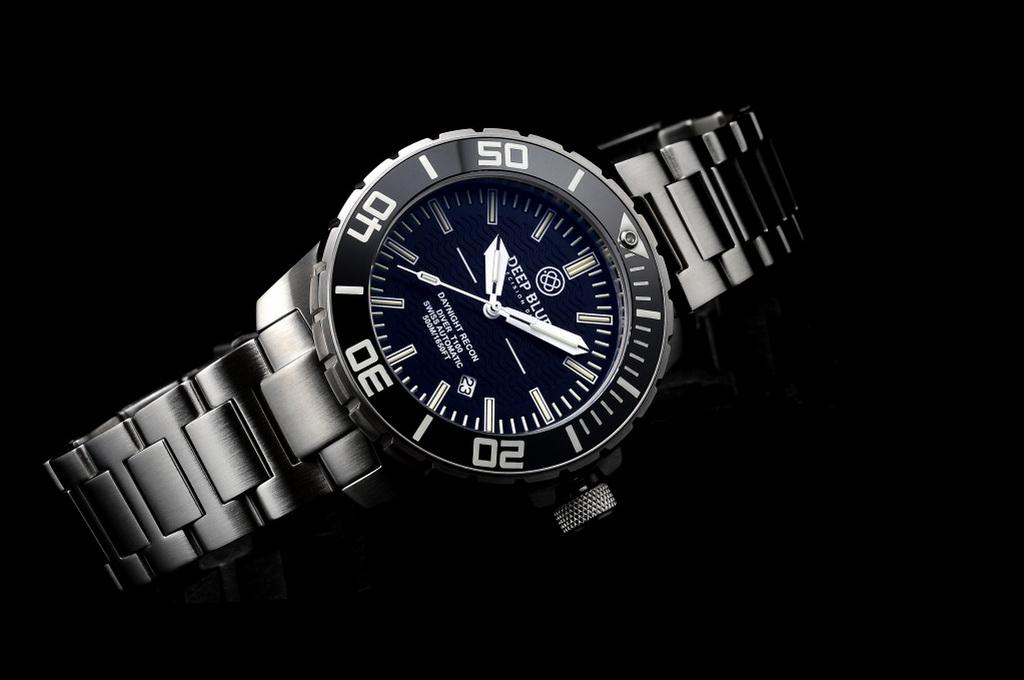 Oceanictime deep blue watches daynight recon t 100 diver - Dive deep blue ...