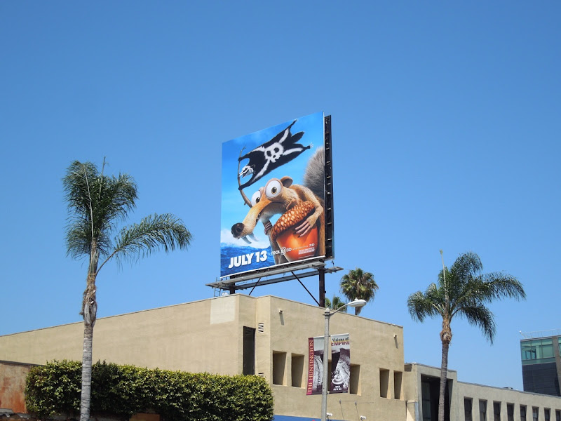 Ice Age 4 Scrat billboard