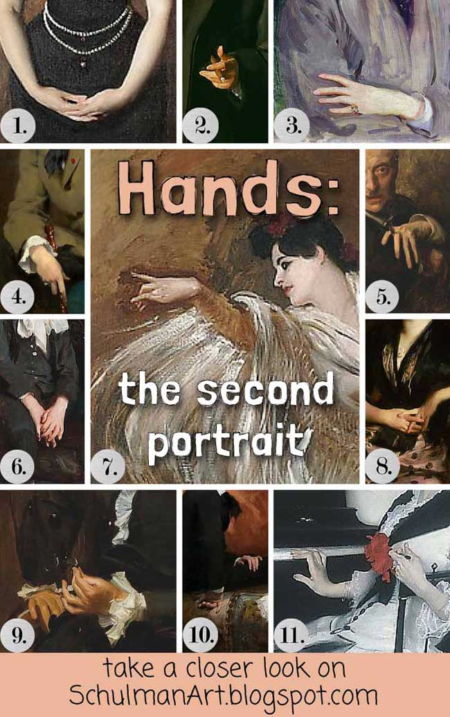 #MetSargent portrait painting techniques for hands: http://schulmanart.blogspot.com/2015/08/hands-second-portrait.html