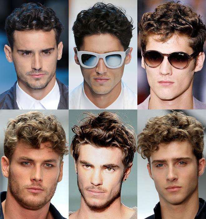 Mens curly haircut