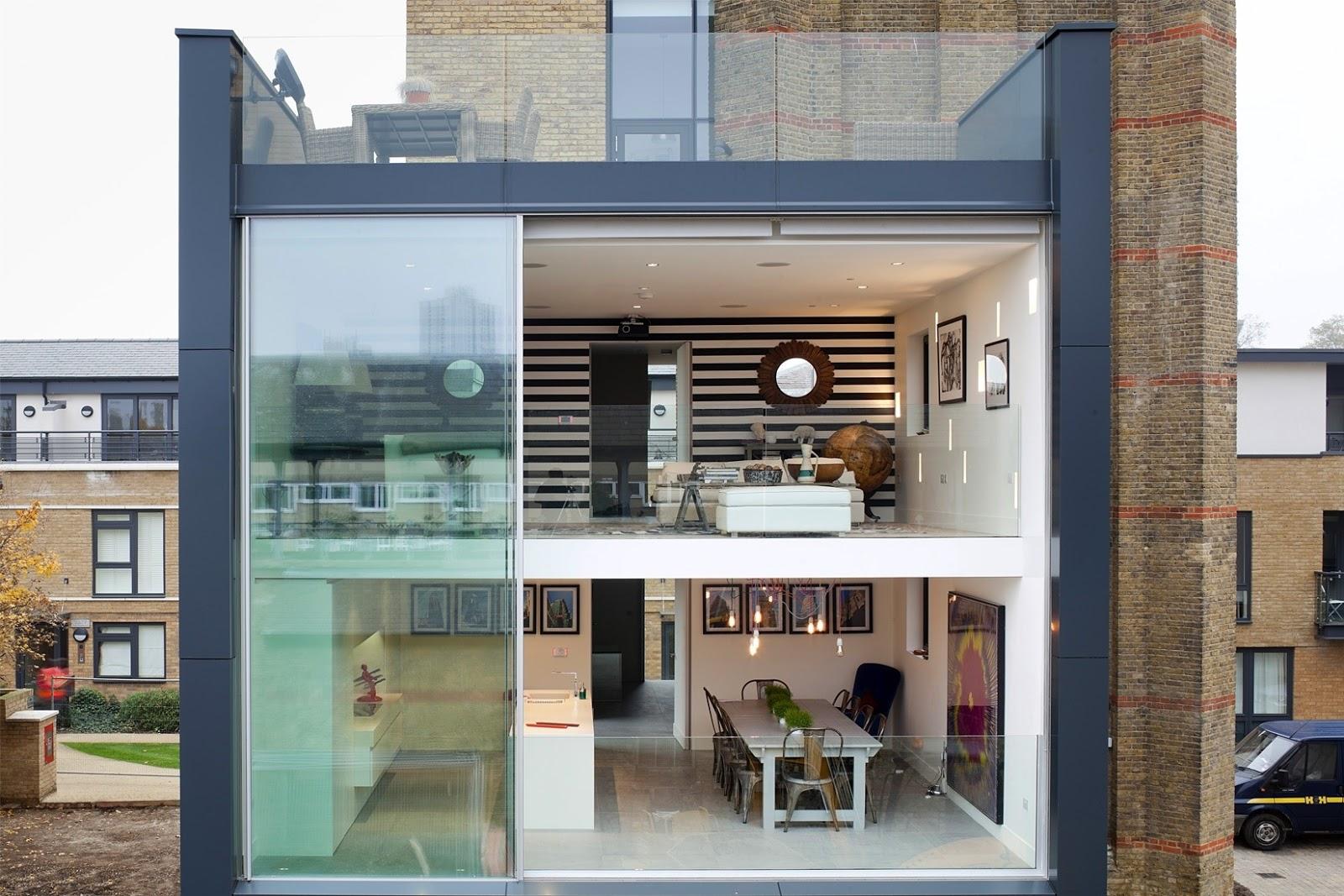 The water tower di londra convertita in casa unifamiliare for Piani di progettazione della casa 3d 4 camere da letto