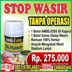 info pemesanan AMBEJOSS Salwa Wasir