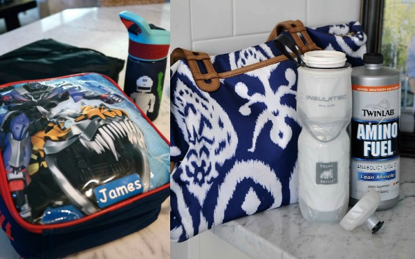 Summer Morning Routine - pack lunch bag, gym bag   Honey We're Home